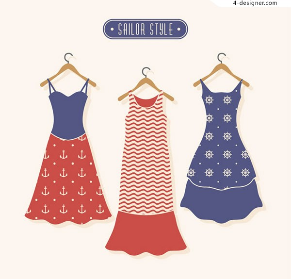 Navy Wind dress