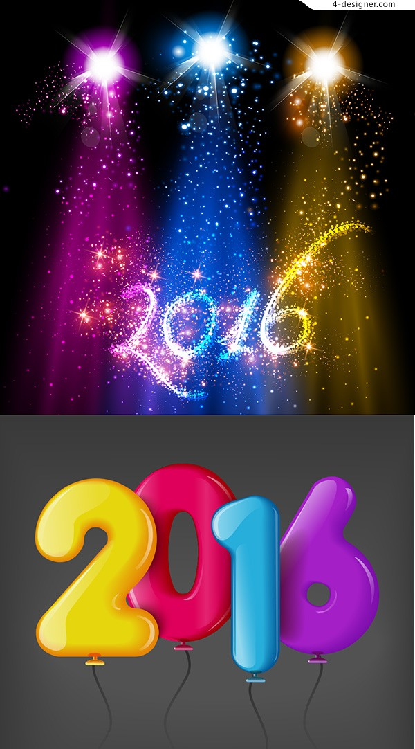 New year element vector