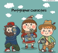 Painted photography characters