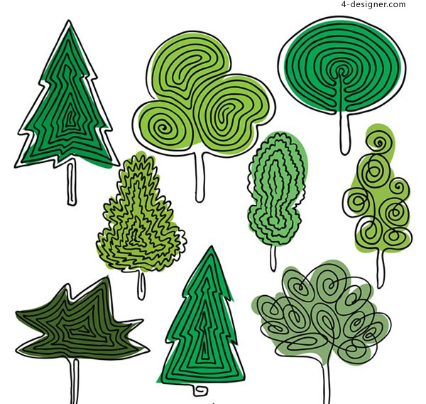 Painted tree vector