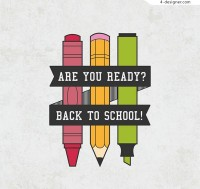 Pencil back to school posters