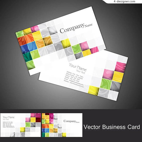 Personalized mosaic business card