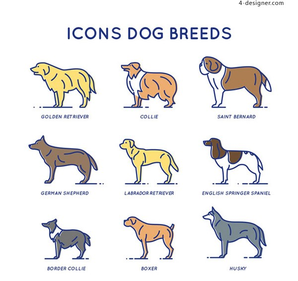 Pet dog icon vector