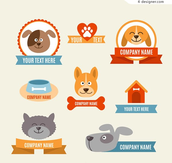 Pet tag vector