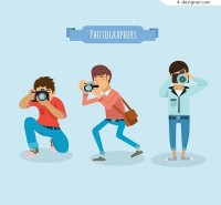 Photographer men vector
