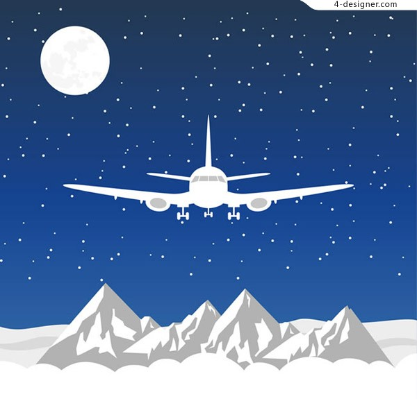 Planes flying over snow mountain