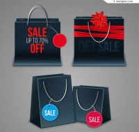 Promotional shopping bag vector