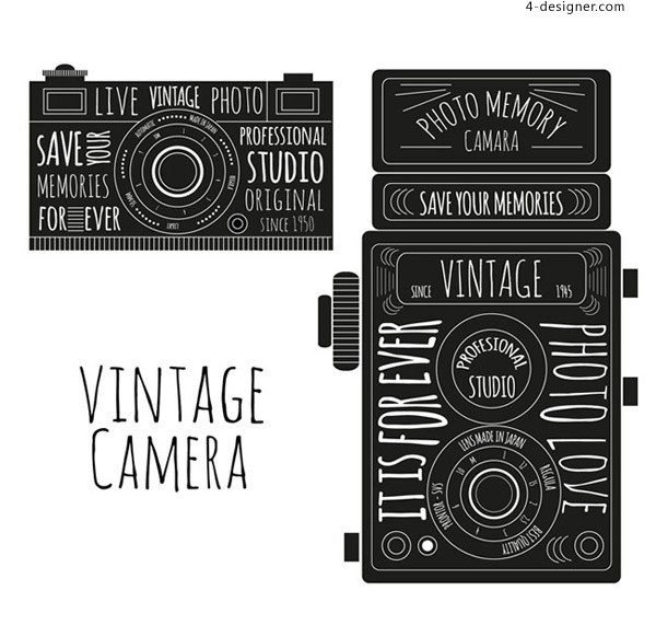 Retro hand drawing camera