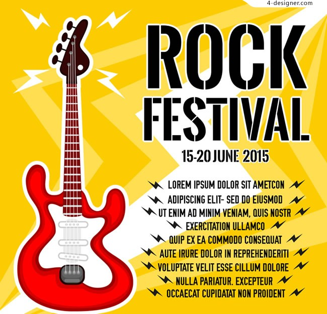 Rock and roll Festival Poster