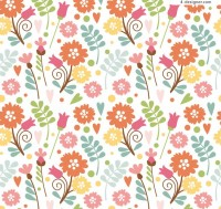 Seamless background vector for flowers