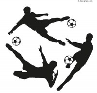 Silhouette of football players