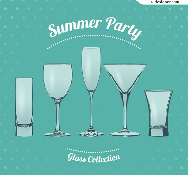 Summer party glass