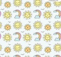 Sun and rainbow background