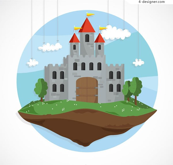 Suspended fairy tale castle