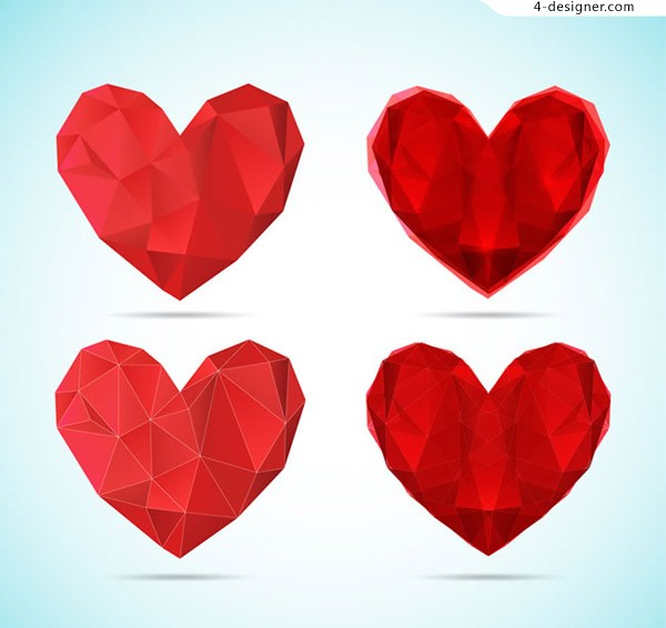 Texture red love vector