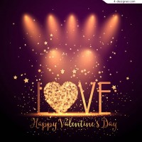 The art word of Valentine s day love