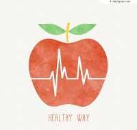 The electrocardiogram in apple