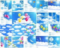 The sky and the balloon vector