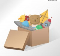 Toys in cartons