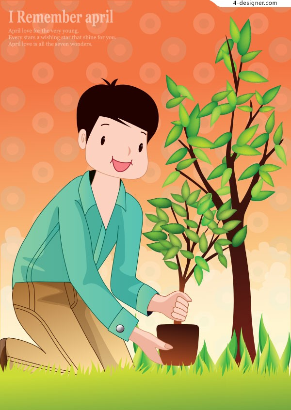 Tree planting characters