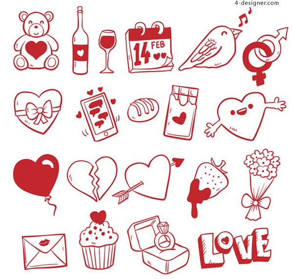 Valentine s Day element vector