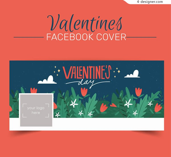 Valentine s Day flower cover