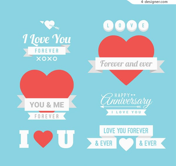 Valentine s Day label vector