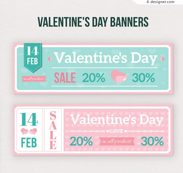 Valentine s Day promotion banner