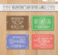 Valentine s Day promotional labels
