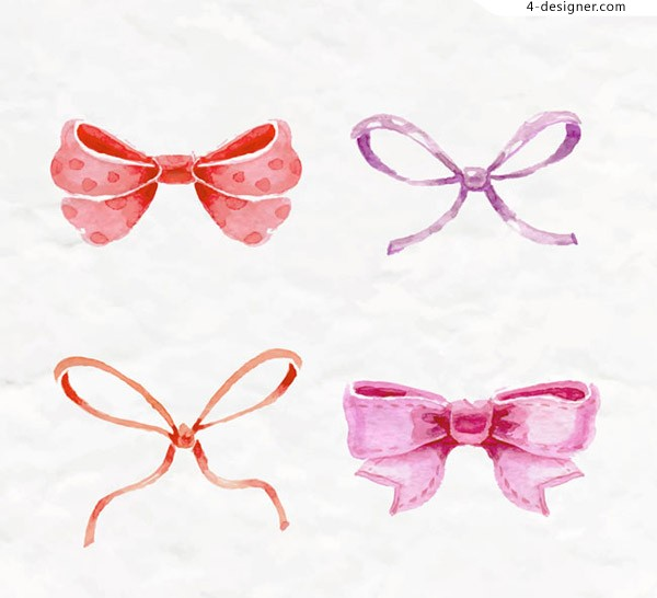 Water color bow knot vector
