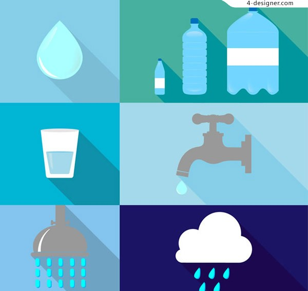 Water element icon vector
