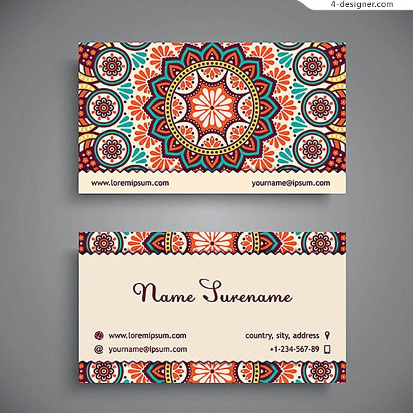 Western style printing business cards