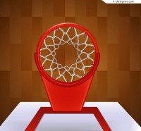 Basketball backboard and basket