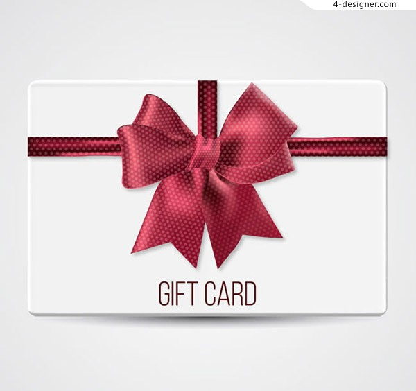 Bow tie decoration gift card