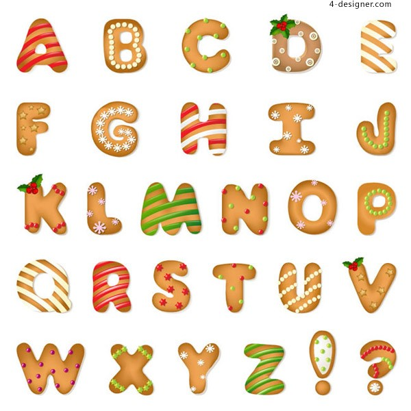 Christmas cracker alphabet