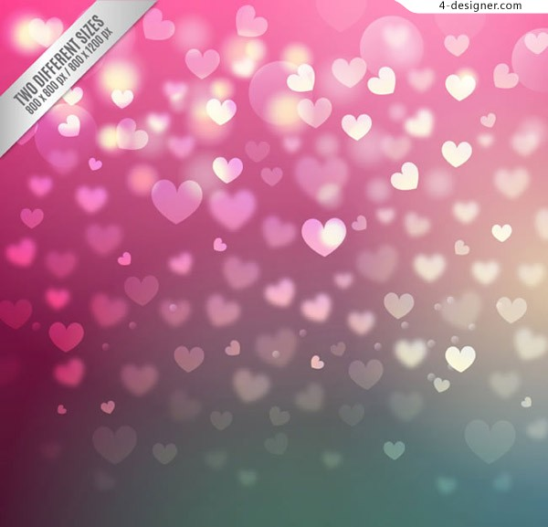 Colorful love background vector