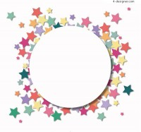 Colorful star sticker background