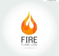Creative flame logo vector