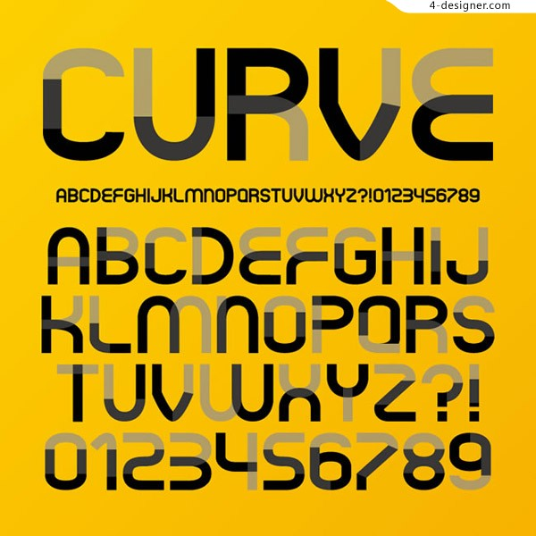 Curve letter vector