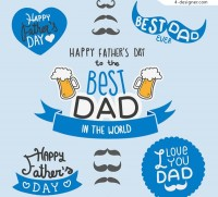 Decorative elements of father s Day