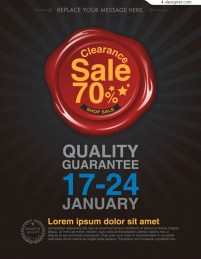 Discount promotional posters