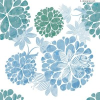 Elegant spherical flower vector