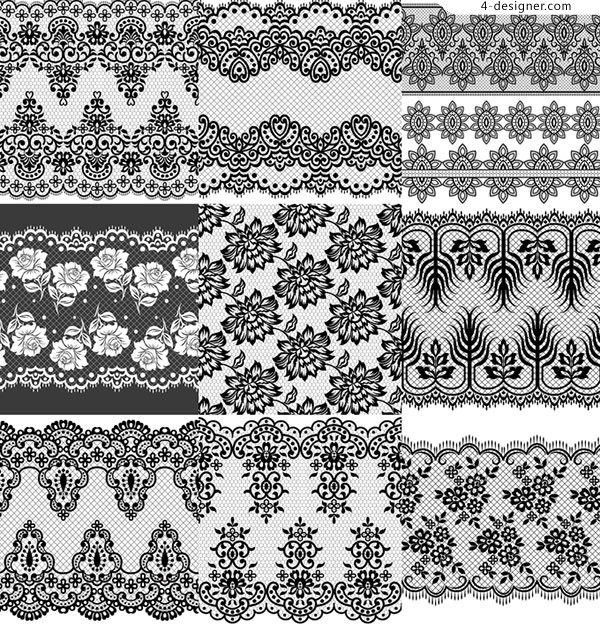 European black and white pattern background