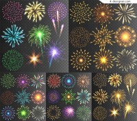 Exquisite fireworks vector