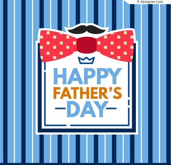 Father s Day celebration with blue stripes