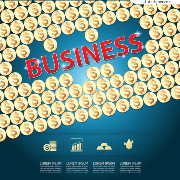 Gold coin business information map