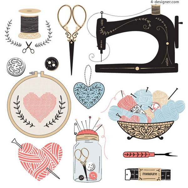 Hand sewing elements