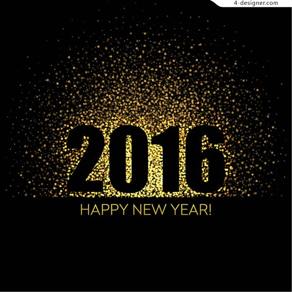 Happy new year halo greeting card