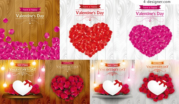 Heart shaped petals of Valentine s Day