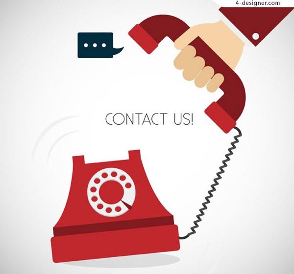 Illustration vector for business telephone